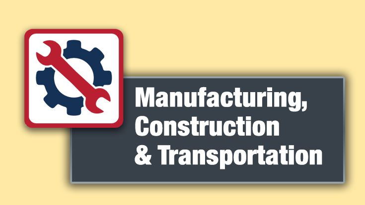 Manufacturing, Construction, and Transportation Logo